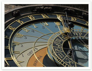 Prague Astronomical Clock on the Old-Town Square