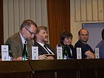 Opening Ceremony: Ladislav Miko (Minister of Environment of the CR), Petr Skleni�ka (Dean of the Faculty of Environmental Sciences - Czech University of Life Sciences), Vendula Ludvikov� (Local Organising Committee ECCB), Andr�s B�ldi (Steering Committee ECCB)